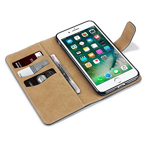Coque Cuir iPhone 7 Plus, Terrapin Étui Housse en Cuir pour iPhone 7 Plus Étui - Noir/Brun