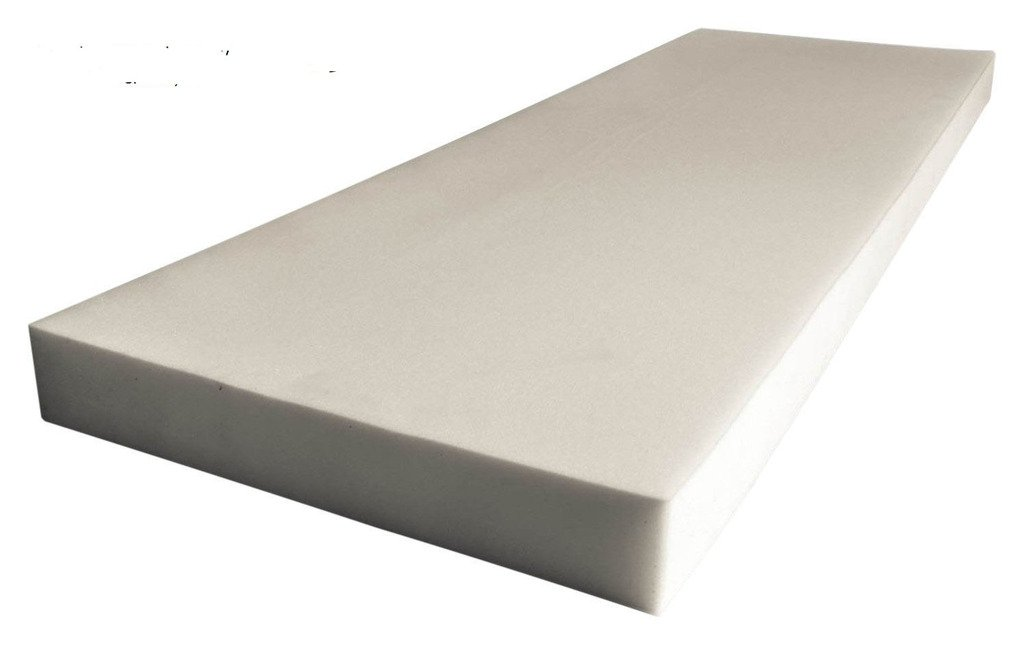5'' x 24'' x 72'' Upholstery Foam Medium Density (Seat Replacement, Upholstery Sheet, Foam Padding)