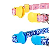 Blueberry Pet Pack of 2 Cat Collars, Perfection Mix Match Designer Adjustable Breakaway Cat Collar for Girl & Boy with Bow Tie & Bell, Neck
