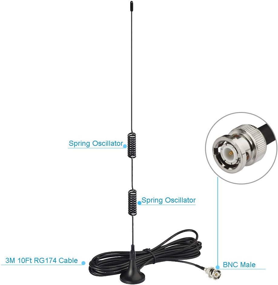 Bingfu VHF UHF Amateurfunk Mobilfunkantenne Polizei Radio Scanner ...