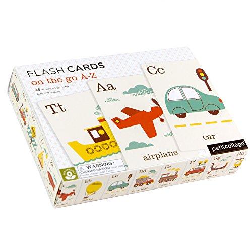Petit Collage Alphabet A-Z On the Go A-Z Flash Cards (26 cards)