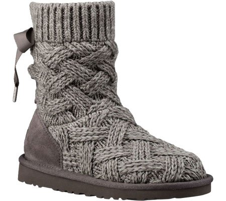 UGG Girls Lottie Boot Heathered Charcoal Size 2 M US Little Kid
