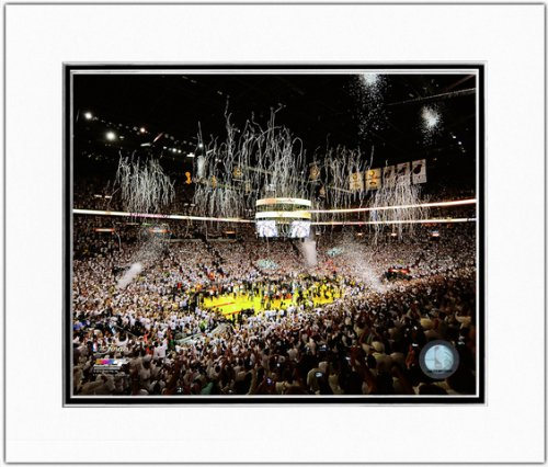 Miami Heat 2013 NBA Finals Game 7 American Airlines Arena Celebration Matted Photo 11x14