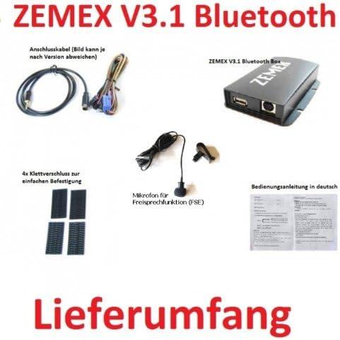 ZEMEX V3.1 Bluetooth Freisprecheinrichtung f/ür viele Acura /& Honda Modelle