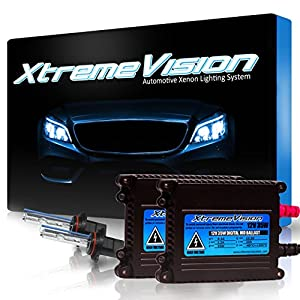 XtremeVision 35W HID Xenon Conversion Kit with Premium Slim Ballast - 9005 10000K - Dark Blue - 2 Year Warranty