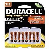 Duracell Zinc Air Hearing Aid Battery 1.4 V Model Da 312 Pack Pack / 8