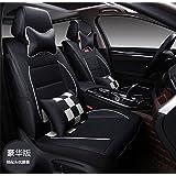 Ice-man PU Leather Universal Car Seat Cushion Cover For Fit for Kia all Series Sorento Ceed Cerato Carnival Sporage R Ceed SW Rio Soul optima Venga 5 Seats (Black&White)