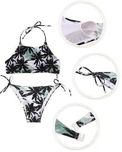 Sexy Da da Floreale Due Donna Neck Beachwear Bikini Triangolo Pezzi Coco Nero Bagno High Stampa Costumi SHEKINI Costume Bagno Set In5qOn