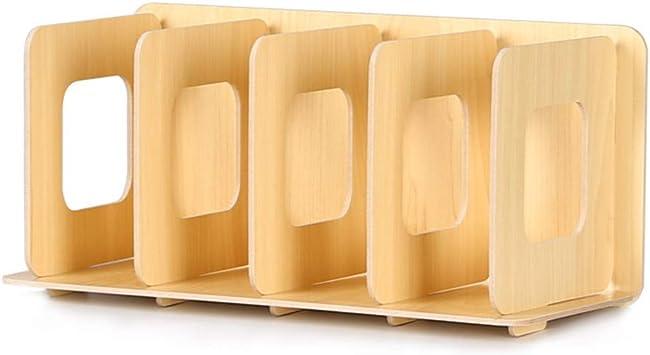 Cd Rack Holz Aufbewahrung Creative Display Ständer Dvd Film Rack Diy Organizer Beige Küche Haushalt