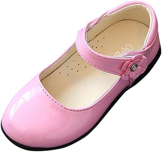 Alaso Chaussures Bébé Zapatos de piel para niña, bailarina de ...