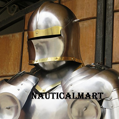 Medieval Knight Gothic Full Suit of Armor 15th Century Body Armour by NAUTICALMART (Image #2)