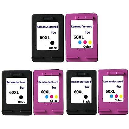 inkmate 6pk Remanufacturado cartucho de tinta para HP 60 X L ...