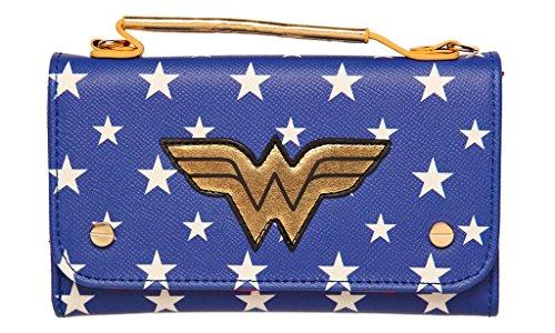 Official Wonder Woman Inside Out Cross Body Clutch Purse Wallet Evening Bag