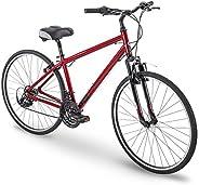 "700c Royce Union RMY Mens 21-Speed Hybrid Comfort Bike, 17"" Aluminum Frame, Metalli"