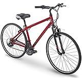 Royce Union 700c RMY Mens 21-Speed Hybrid Comfort Bike, Metallic Red