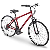 "Royce Union 700c RMY Mens 21-Speed Hybrid Comfort Bike, 17"" Aluminum Frame, Metallic"