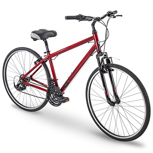 Mens 21-Speed Hybrid Comfort Bike, 17