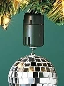 Ornamotor ii rotating ornament hook 8x better for Motorized rotating christmas tree stand