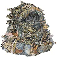 BESPORTBLE Camo Hunting Face Mask 3D Leaf Balaclava Full Coverage Hood Headcover Headwear Hat for Shooting Cyc