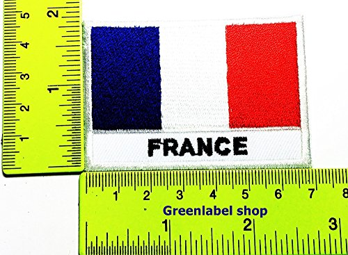 Each country's flag France flag Patch Logo Sew Iron on Embroidered Appliques Badge Sign Costume Send Free (France United Nations Costume)