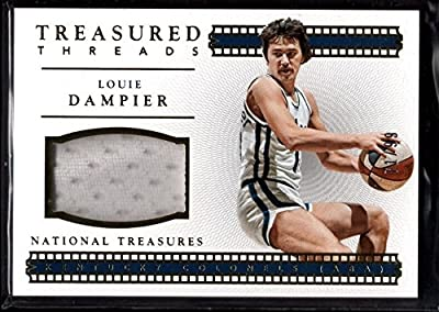 Louie Dampier 71/99 Kentucky Colonels Jersey Patch Sp 2015-16 National Treasures