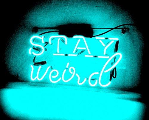 Night Light lamp Decor Neon Light Sign Beer Bar Custom Home Lighting Decorations - Perfect for Bedroom, Living Room, Hallway, Stairways, Office, Garage, Windows - STAY weird by Good Vibes Only
