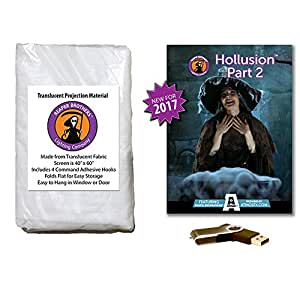 AtmosFearFX Hollusion Part 2 Halloween Compilation Video on USB and Reaper Bros High Resolution Projection Screen