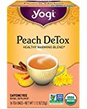 Yogi Tea, Detox Peach, 16 Count (Pack of 6), Packaging May Vary