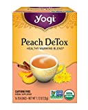 Yogi Tea, Peach DeTox, 16 Count (Pack of 6), Packaging May Vary