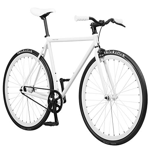 - Pure Fix Original Fixed Gear Single Speed Bicycle, Romeo White, 58cm/Large