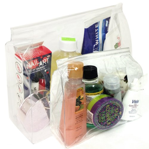 Wrapables Clear Vinyl Travel Cosmetic