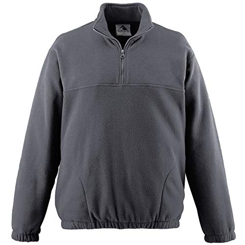 Augusta Sportswear Chill Fleece Half-Zip Pullover XL Charcoal Heather