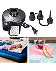 Rantizon Inflatables Electric Pools Air, Blow up Bed Pump for Camping Sports, Kids Paddling Pools & Toys, Black