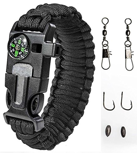 HAIN@Ultimate Outdoor Paracord Survival Kit 4 Different Accessories