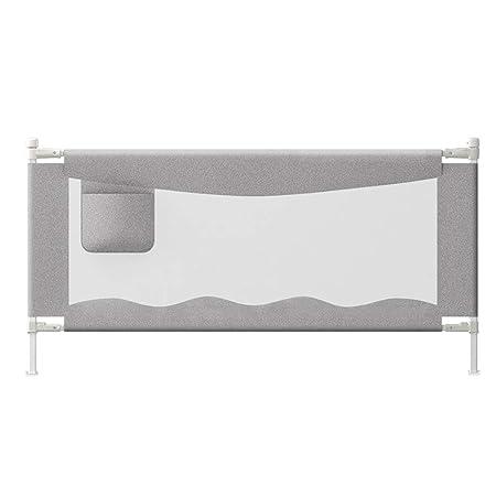 Size : 150cm QLL Barrera de Seguridad Barrera Cama Rieles de Cama para Ni/ños Peque/ños Barandilla de Cama Anti-ca/ída Malla /Única Gris