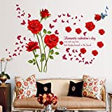 Best Amaonm Home Fashion Kids - Amaonm Fashion Romantic Rose Flower Wall Decals Flower Review