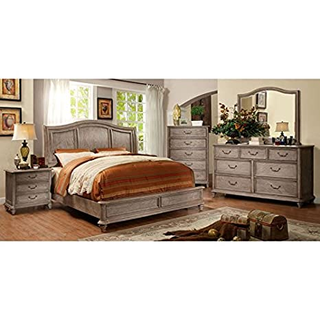 Amazon.com: Belgrade II Transitional Style Rustic Weathered ...