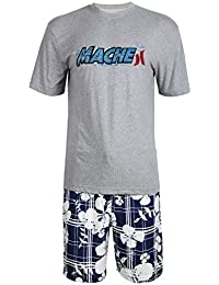 Men's Summer Short Sleeve Sleepwear Pajama Shorts Set