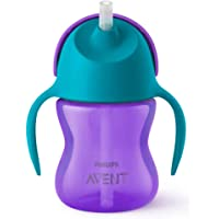 Philips Avent Bendy Straw Cup for 9m+ Babies with Integrated Anti-Leak Valve, 200ml, 1-Pack, SCF796/00
