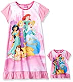#10: Disney Girls' Multi-Princess Nightgown With Matching Doll Gown