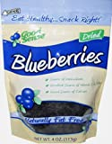 Good Sense Blueberries, 4 Ounce Bags (Pack of 6)