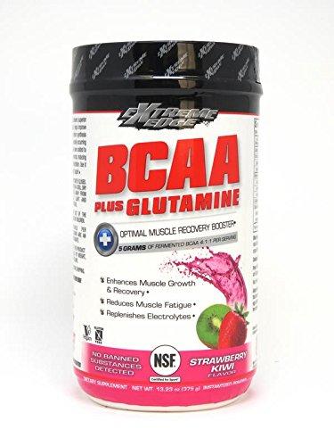 Edge Powder - Bluebonnet Nutrition Extreme Edge BCAA + Glutamine Powder Strawberry Kiwi Flavor, 13.23 Ounces