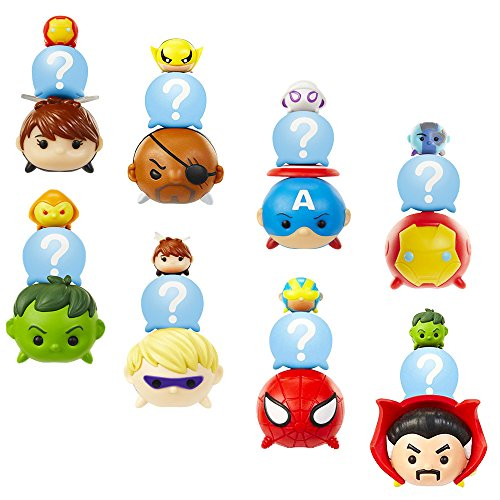(Jakks Pacific Marvel Tsum Tsum Mystery Pack Super Set -- 8 Marvel Universe Minifigure Packs with Surprise Blind Bags, Series 2 Assort (Party Favors, Party Supplies))