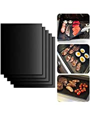 Nonstick BBQ Grill Mesh Mat, 6 Pack Copper Grill Mats for Gas Grills Reusable Easy to Clean - PTFE Teflon Fiber Grill Roast Sheets for Gas, Charcoal, Electric Grill