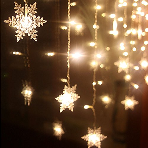 LIANGSM 3.5M 96 LED Fairy Lights Curtain Icicle Starry String Lights for Bedroom Christmas New ...
