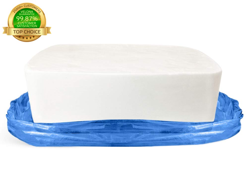 100% Organic White Glycerin Soap Base by Velona | Melt & Pour All Natural Bar for The Best Result | Size: 25 lb