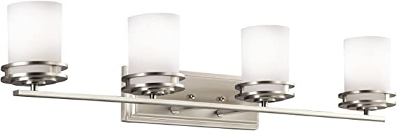 Kichler 5079ni Hendrik Vanity 4 Light Incandescent 400 Total Watts Brushed Nickel Vanity Lighting Fixtures