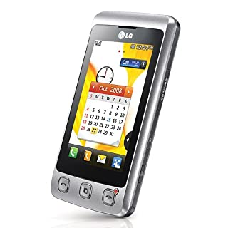 LG KP500 Cookie Unlocked Phone with 3.2 MP Camera, Digital Media Player, and MicroSD Slot-International Version with No Warranty (Silver)