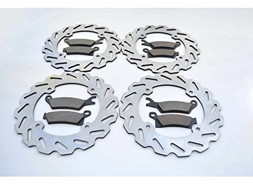 Can-Am Renegade 1000 EFI STD Front and Rear Sport Brake Pads and Sport Brake Rotors