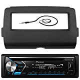 Pioneer DEH-X4800BT Marine Bluetooth Radio USB AUX CD MP3 WMA Audio Receiver Bundle Combo With Scosche Installation Dash Kit for 2014 and Up Harley Motorcycle, Enrock 22'' Radio Antenna